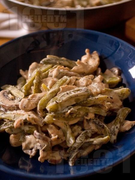 Пиле жулиен - класическа рецепта - снимка на рецептата